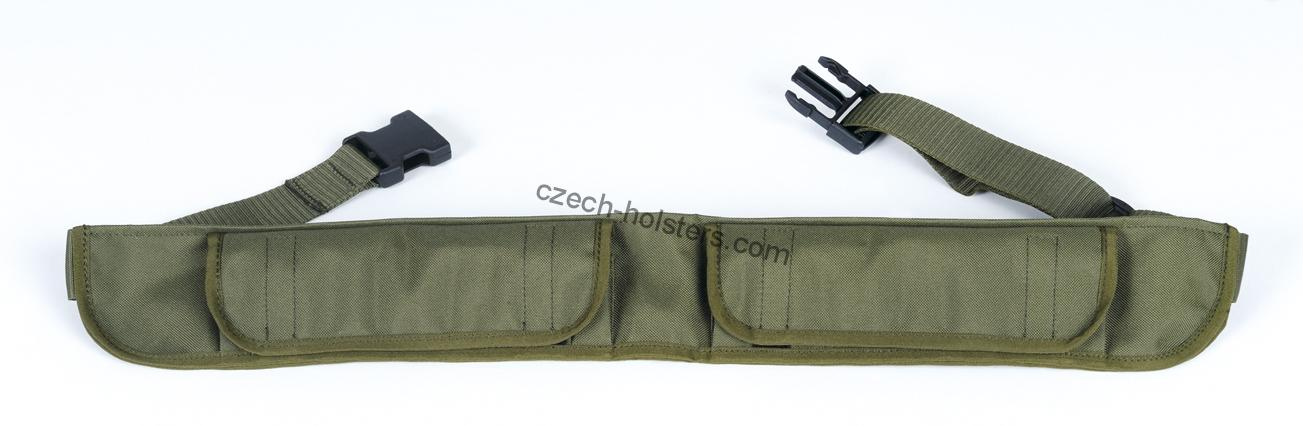 Hunting Shotgun Ammo Belt - Adjustable w/ Flaps - Green