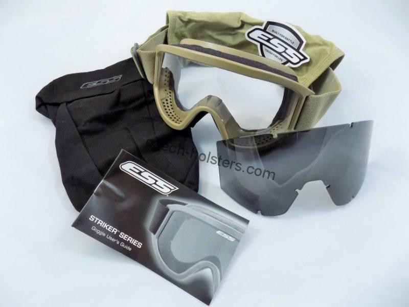 ESS® Land Ops Goggles Terrain Tan Military US Army Ballistic Glasses
