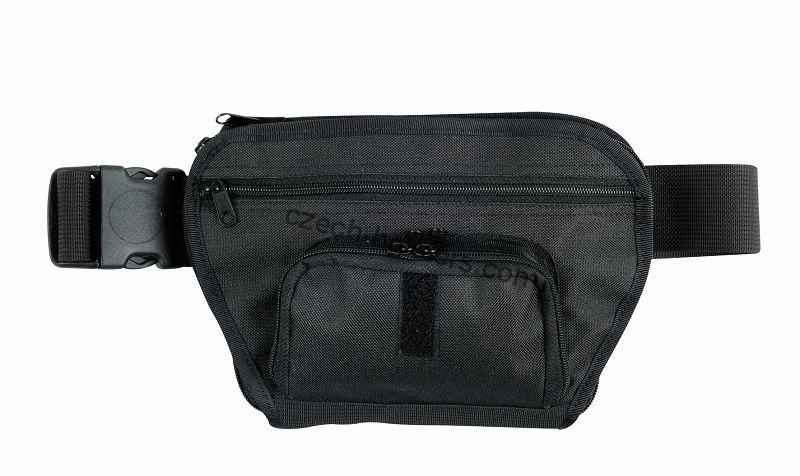 Professional Concealed Funny Pack w/ Two Pockets and Velcro - Black