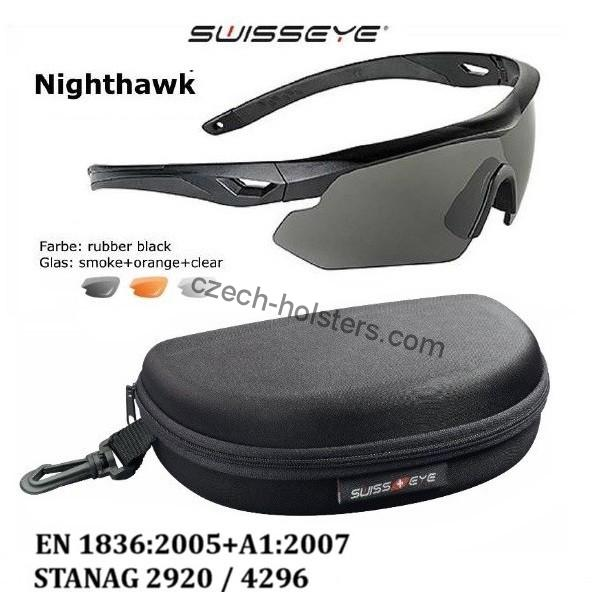 Professional SWISS EYE® NIGHTHAWK Ballistic 3 Lens Kit Shooting Glasses