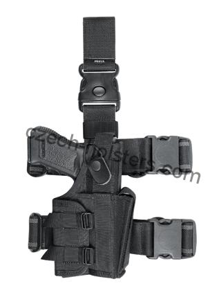 Tactical Multifunctional Leg Holster w/ Modul M3/M6 Flashlight/Laser