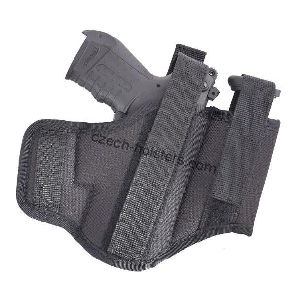 CZ Universal Size Ambidextrous Belt Holster w/ Two Loops + Integrated Mag Pouch