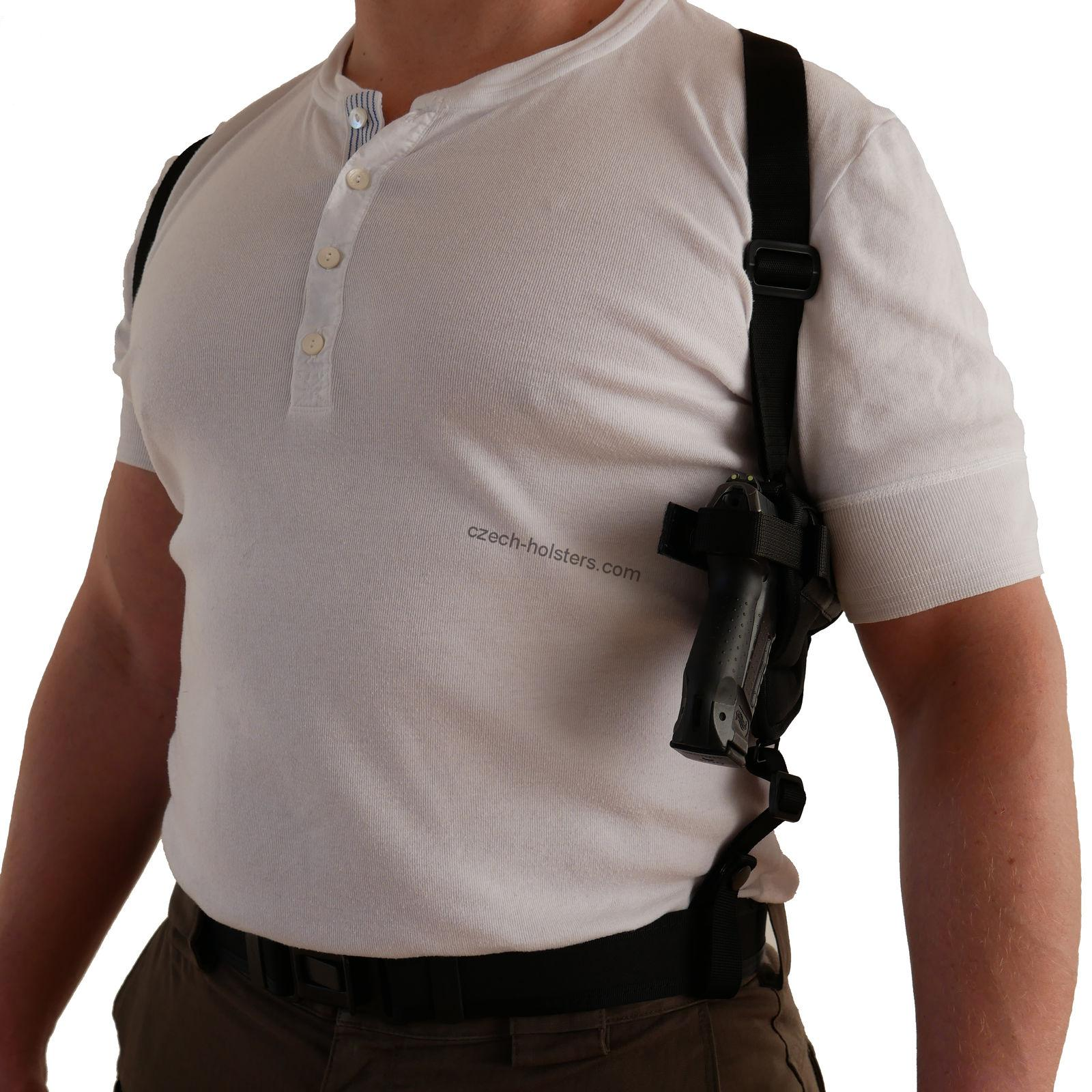 CZ Universal Size Horizontal Ambidextrous Shoulder Holster w/ Cross Rig