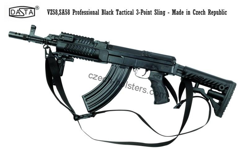 VZ58 SA58 Professional Tactical Police 3-Point Black Sling