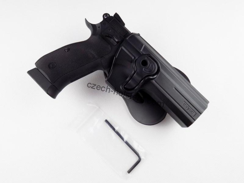 CZ 75 SP-01 Shadow High-Tech Black Polymer Holster - Paddle