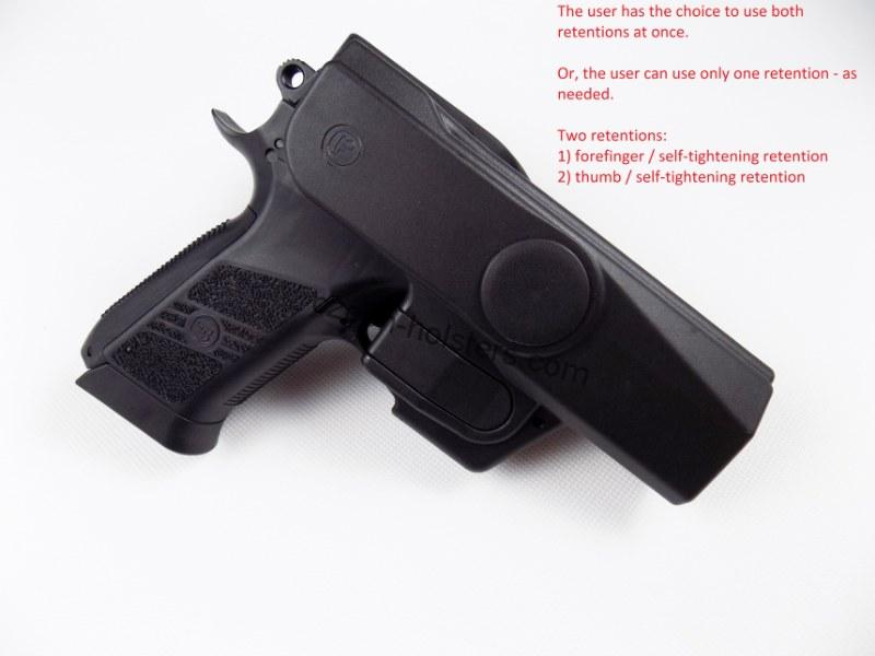 CZ 75 P-09 / DUTY Professional Service V2 Safety Modification Holster UNDER BELT