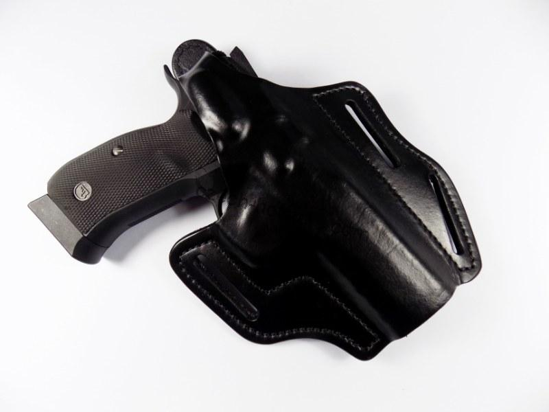 Frontline® Quality Premium Leather OWB Carry Holster CZ 75 SP-01 Shadow - Black