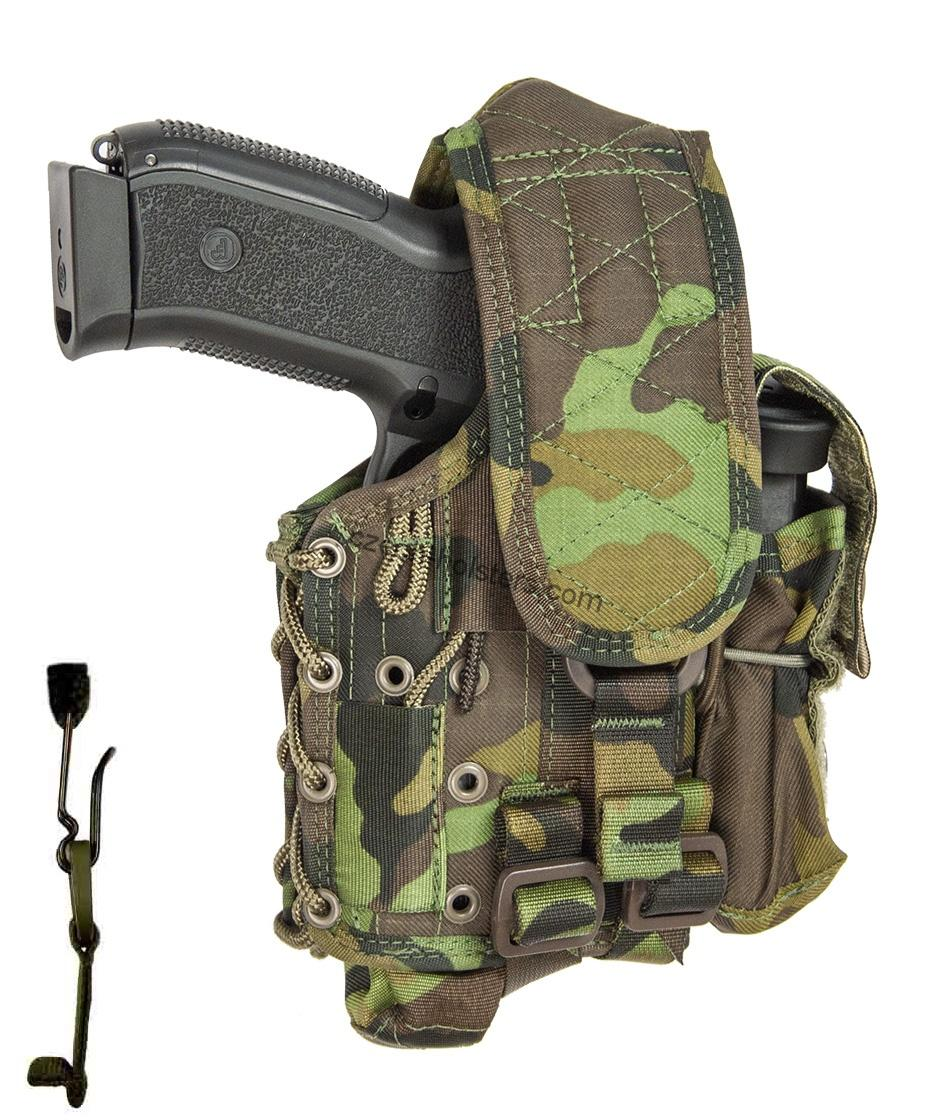 CZ 75 D Compact Army Military Professional Holster for Flashlight CZ Camo M95
