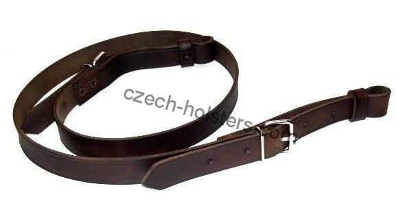 Hunting Premium Leather Rifle Sling - Dark Brown
