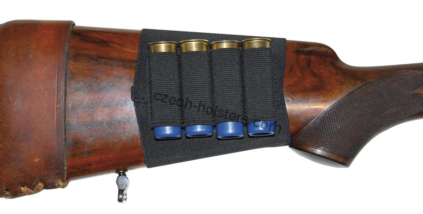 Shotgun Stock Cartridge Holder - Black