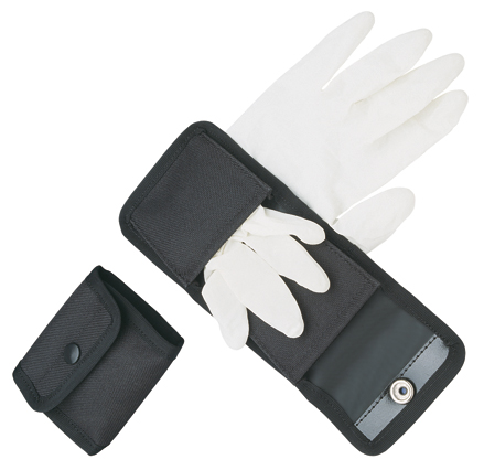 Tactical Belt Black Case for Two Pairs of Latex Gloves