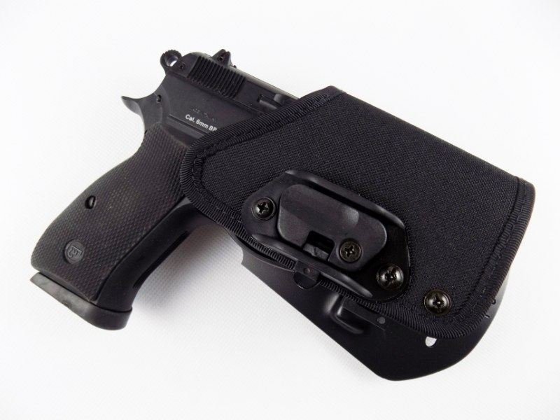 CZ 75 D Compact P-01 P-06 PCR Concealed Carry Holster w/ Lock Block - PADDLE