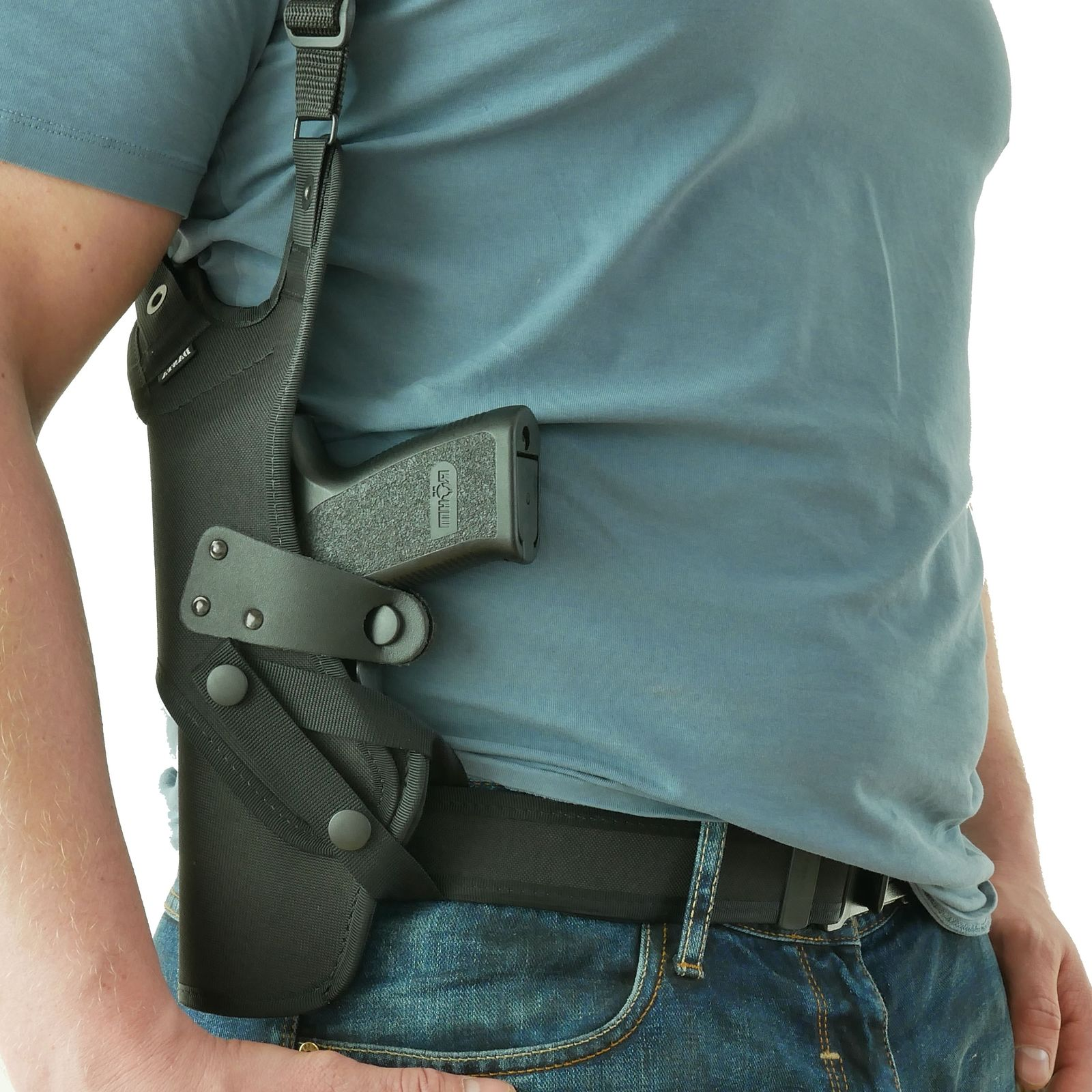 CZ Full Size Thumb-Brake Shoulder Holster w/ One Shoulder Rig