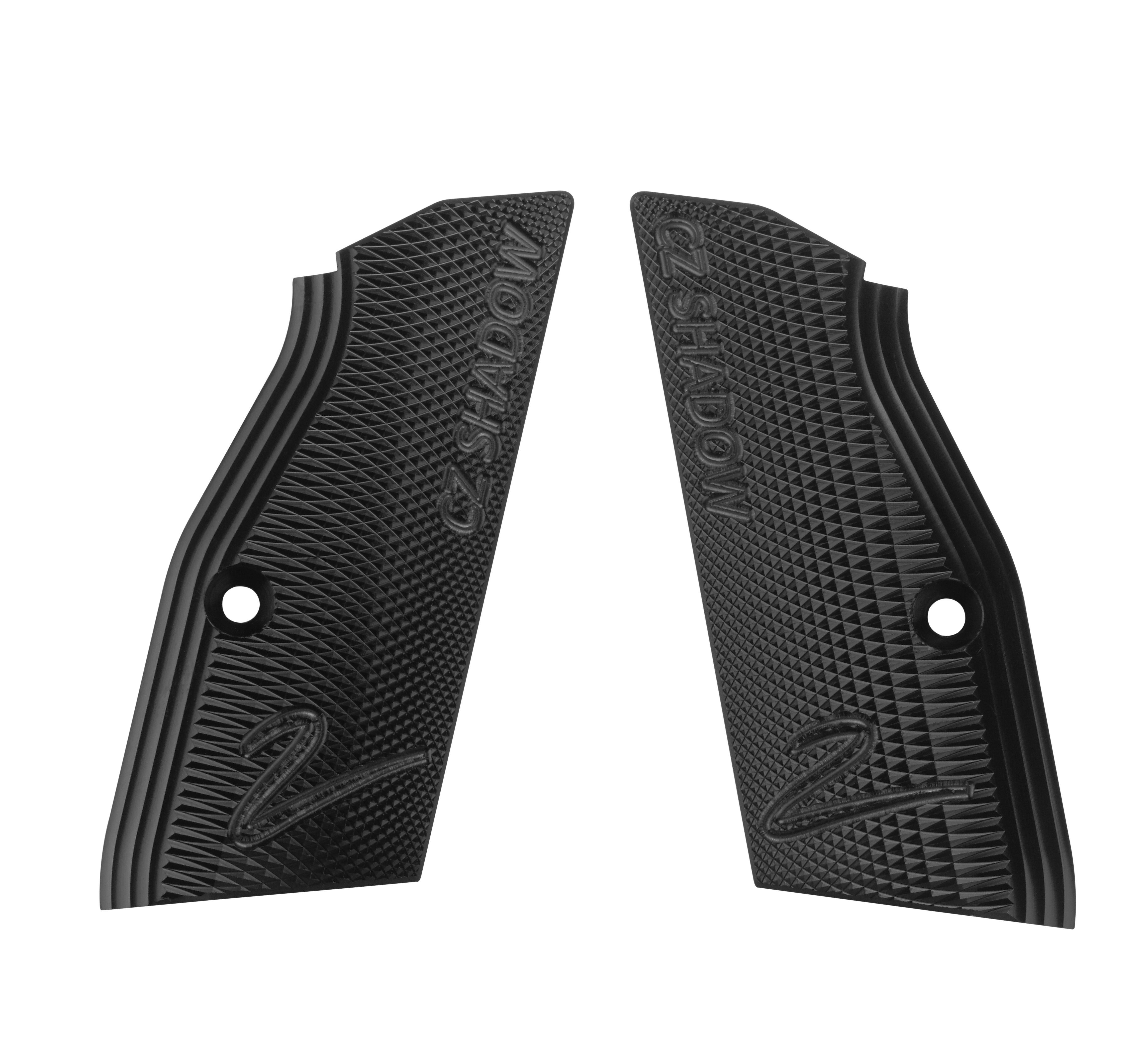CZ SHADOW 2 Premium Hard Elox Grips without Funnel - Black - CZUB®