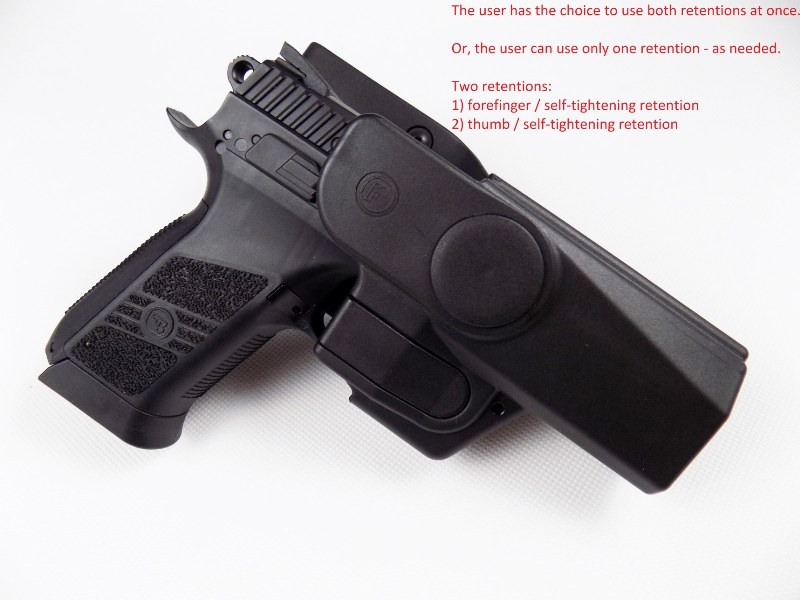 CZ 75 P-07 / DUTY Professional Service V2 Safety Modification Holster UNDER BELT