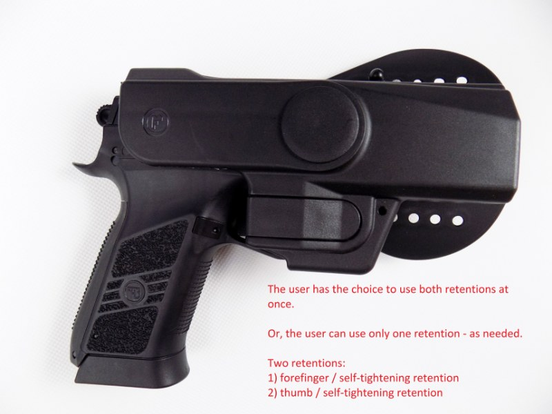 CZ 75 P-09 / DUTY Professional Service V2 Safety Modification Holster - PADDLE