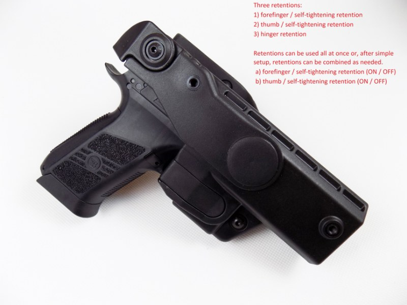 CZ 75 P-07 / DUTY Professional Service V3 Safety Modification Holster UNDER BELT