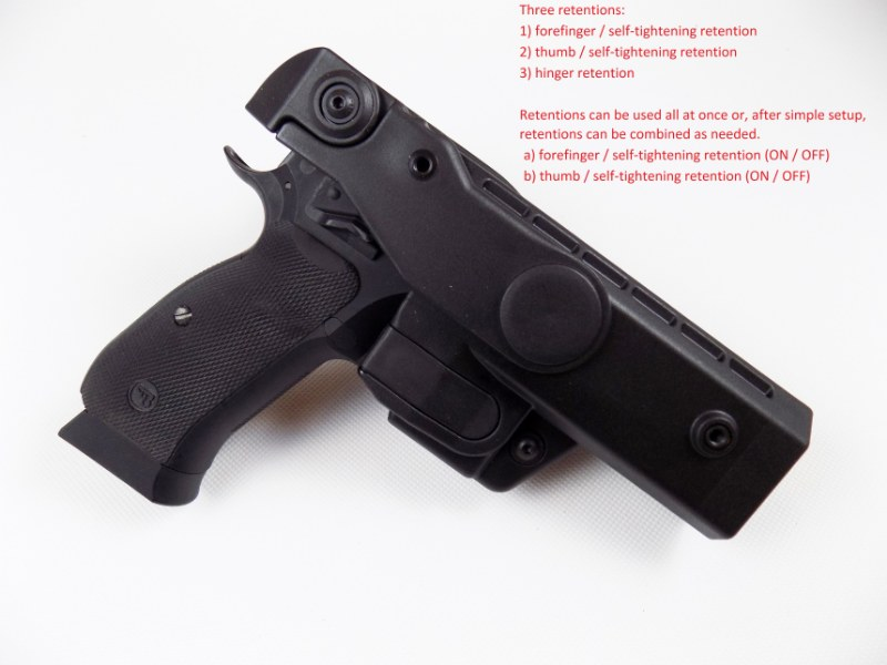 CZ 75 SP-01 Shadow High Level Duty Professional Police V3 Holster UNDERBELT
