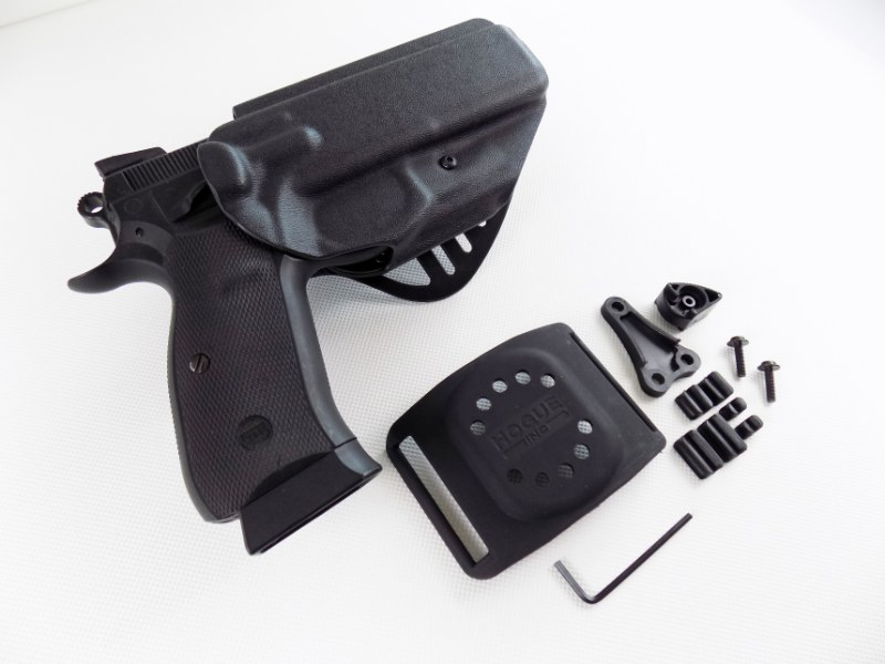CZ 75/85 CZ 75 SP-01 Shadow Polymer Duty Holster Paddle + Belt Loop