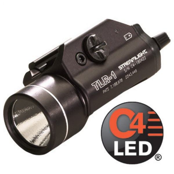 STREAMLIGHT® Rail-Mounted Tactical Weapon Flashlight TLR-1 - 300 Lm