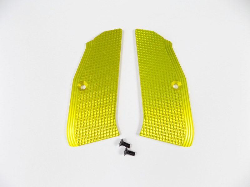 ZENDL® CZ 75 High Quality Grooved Grips - YELLOW