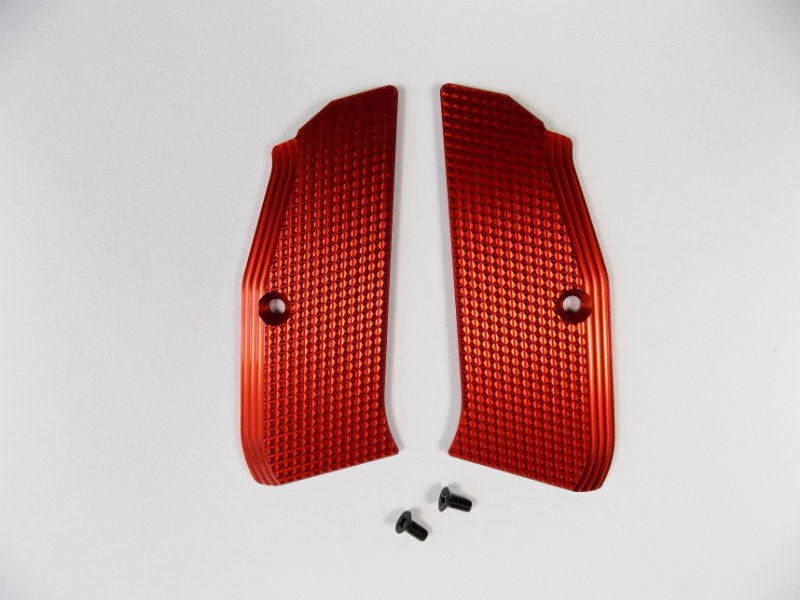 ZENDL® CZ 75 High Quality Grooved Grips - RED
