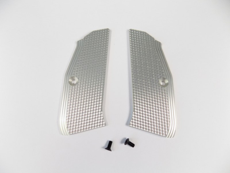 ZENDL® CZ 75 High Quality Grooved Grips - SILVER