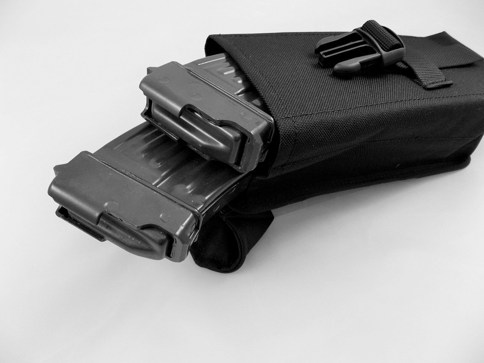 VZ58,SA58 Black Police Ammo Double Pouch